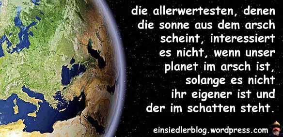 planet im arsch